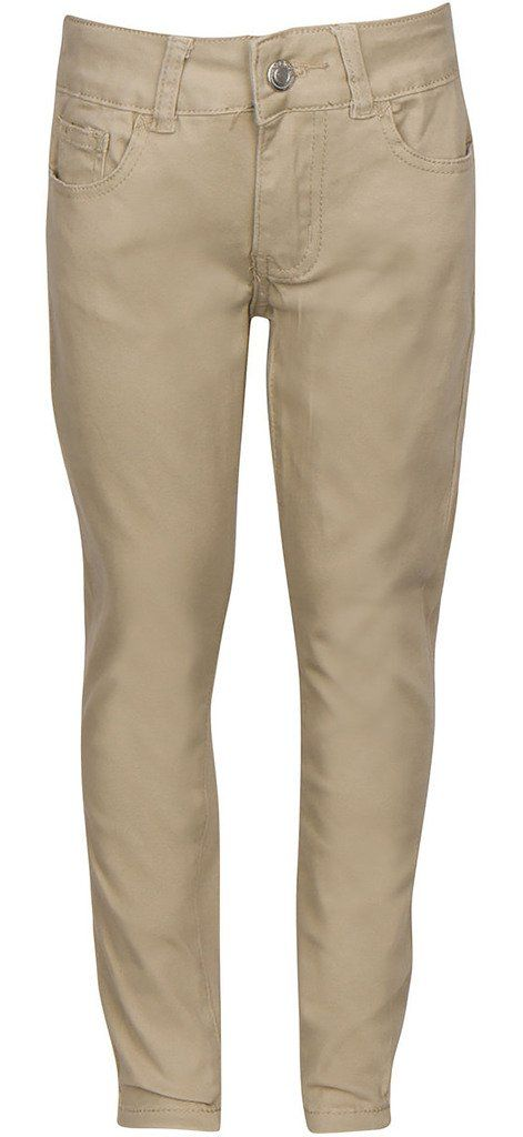 15bdb5393e Premium Skinny Stretchable School Uniform Pants for Juniors 1 Khaki ...