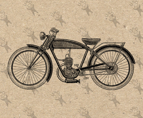Vintage Motorbike image Instant Download printable Vintage picture clipart digital graphic scrapbooking, burlap, t-shirt,stickers etc 300dpi