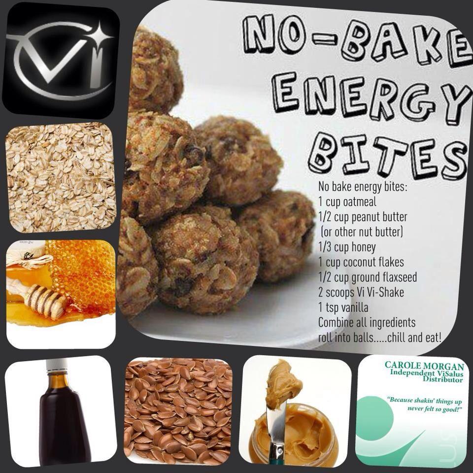 Vi Bites Shake recipes, No bake energy bites, Recipes