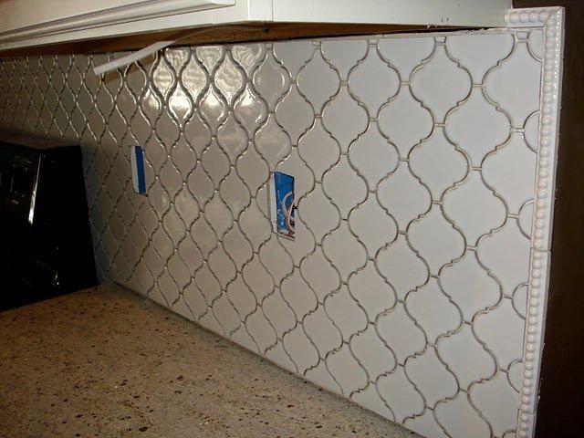 Trellis Tile For The Backsplash But In A Light Bluish Grey