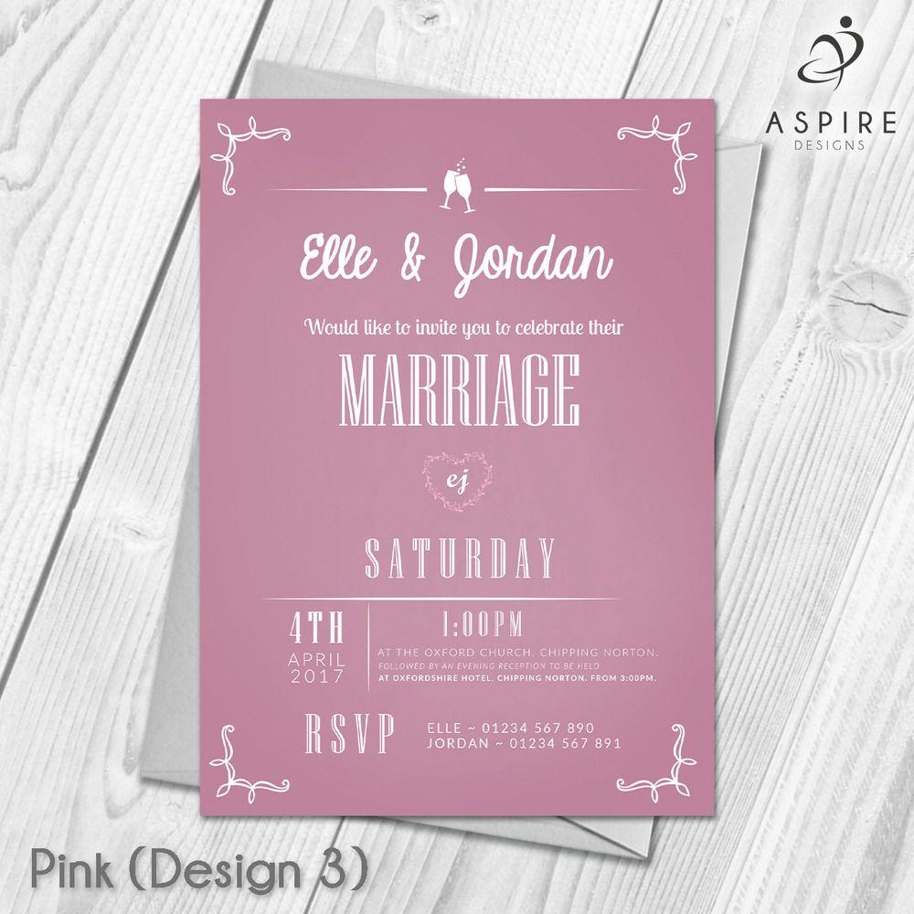 Wedding Invitations | Personalised | Wedding Day or Evening Invites ...