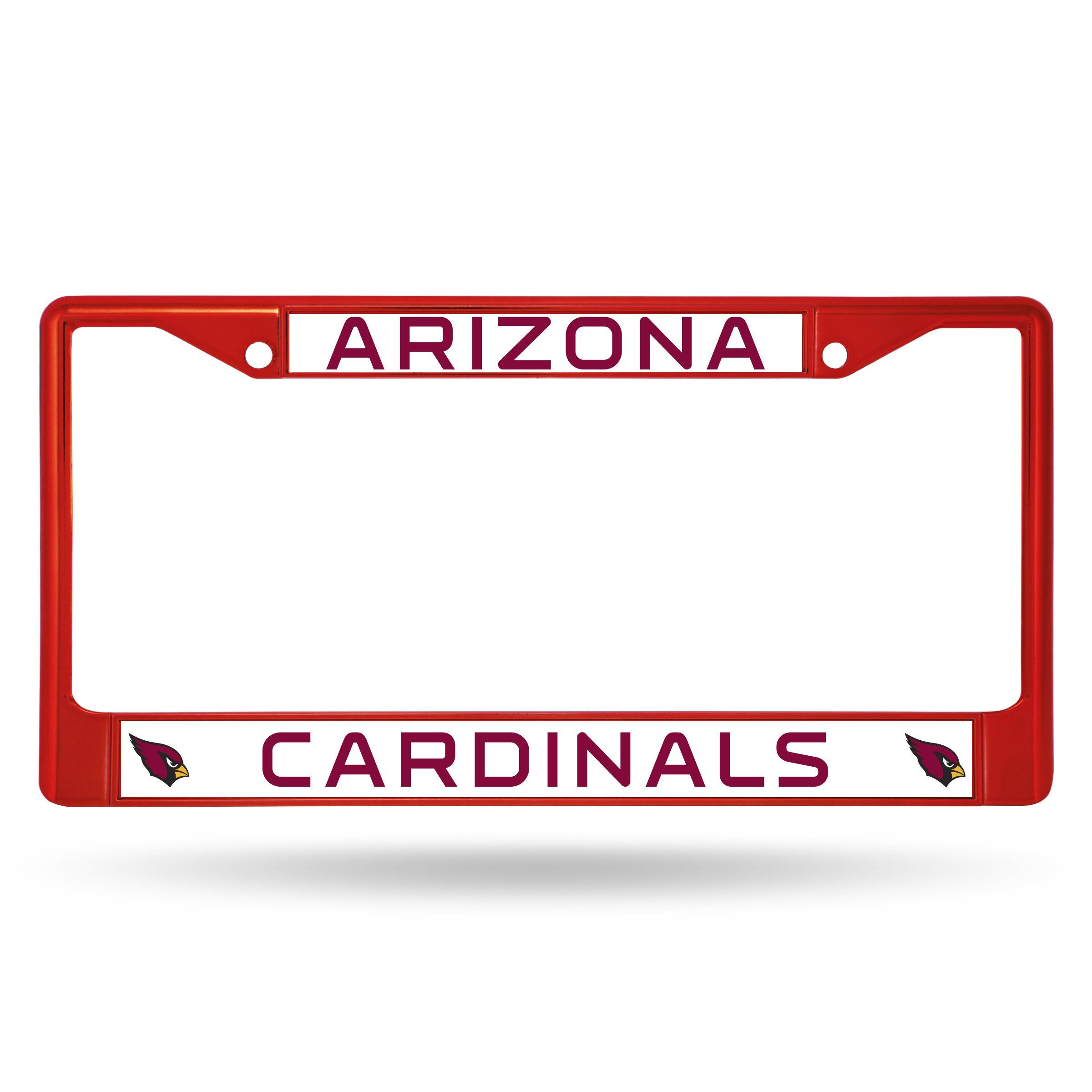 Cardinals Metal License Plate Frame - Red