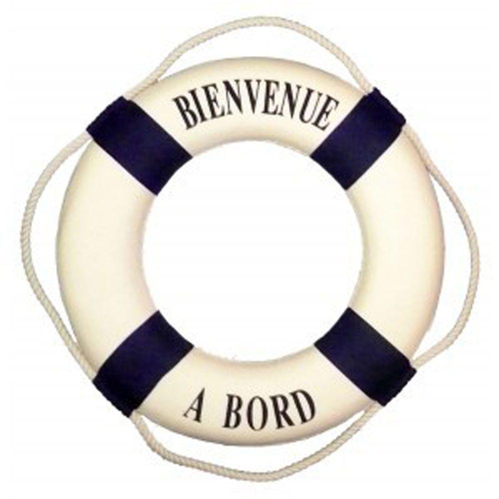 bouée 15 cm décoration marine, bienvenue à bord style marin achat