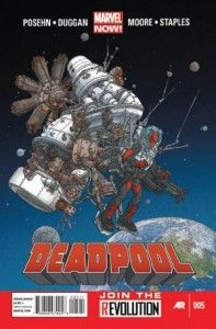 """Check out my review of Gerry Duggan, Brian Posehn, Tony Moore and Val Staples' """"Deadpool"""" #5! Another hilarious issue of this series!"""