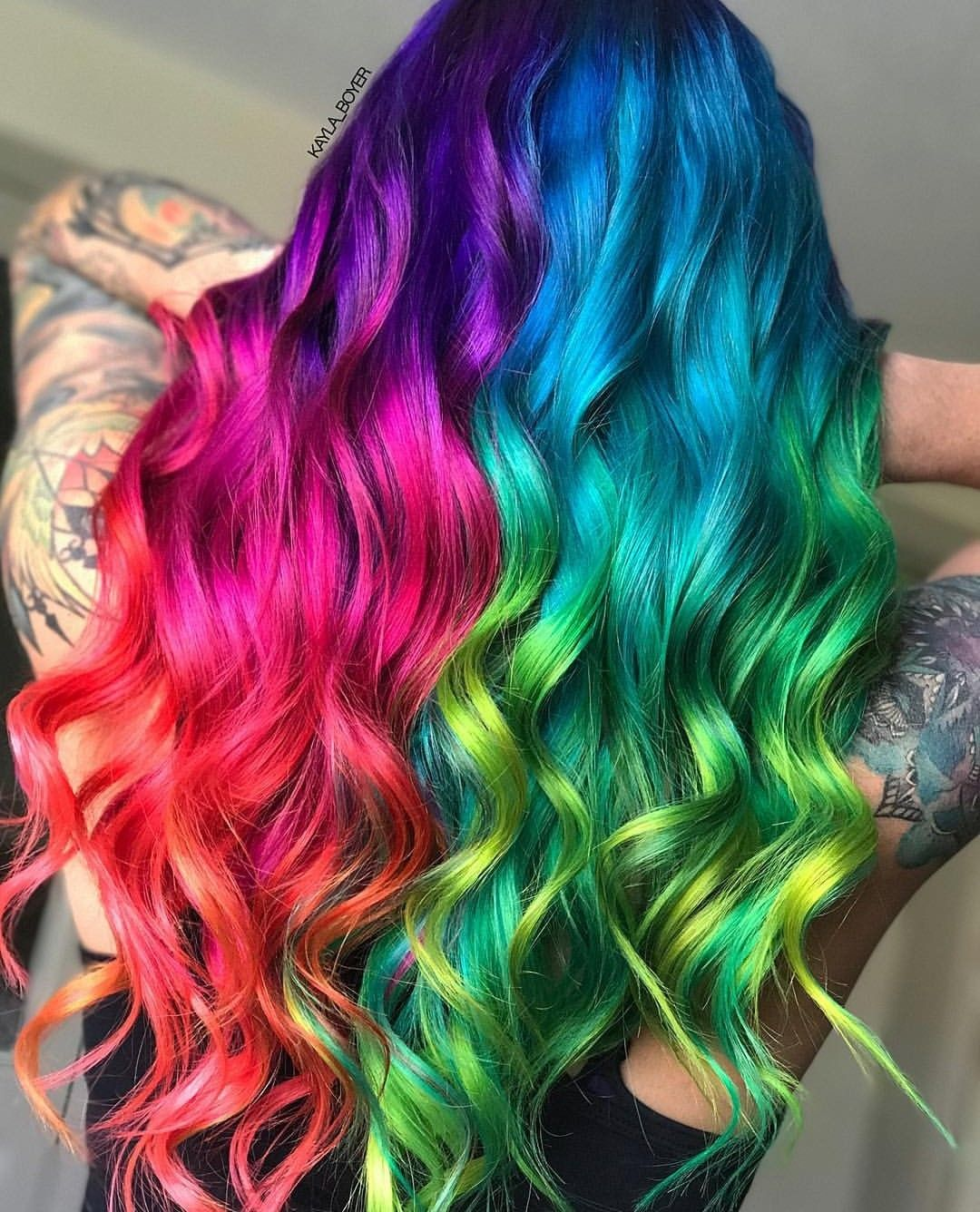 Pin By Alexis Cole On Hair Styles In 2019 Rainbow Hair