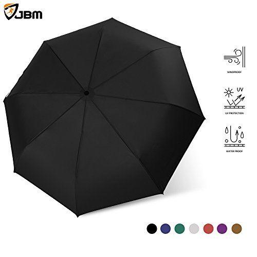 33446a848cb1 JBM Windproof Travel Umbrella Automatic Open Close Sun Rain UV ...