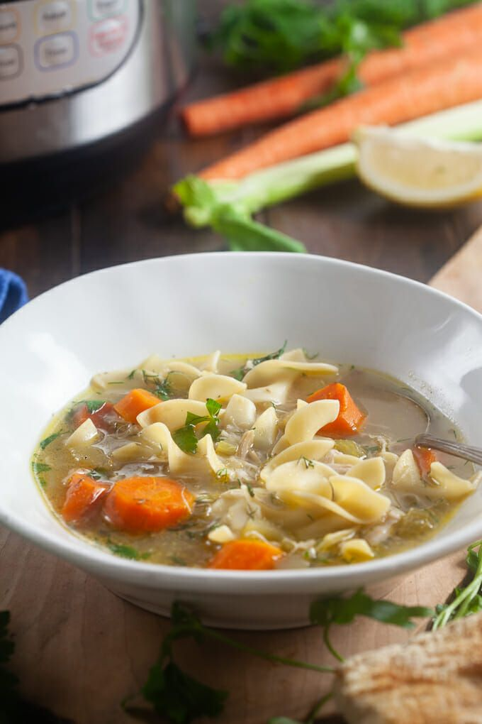 instant pot chicken noodle soup  recipe  cooking recipes