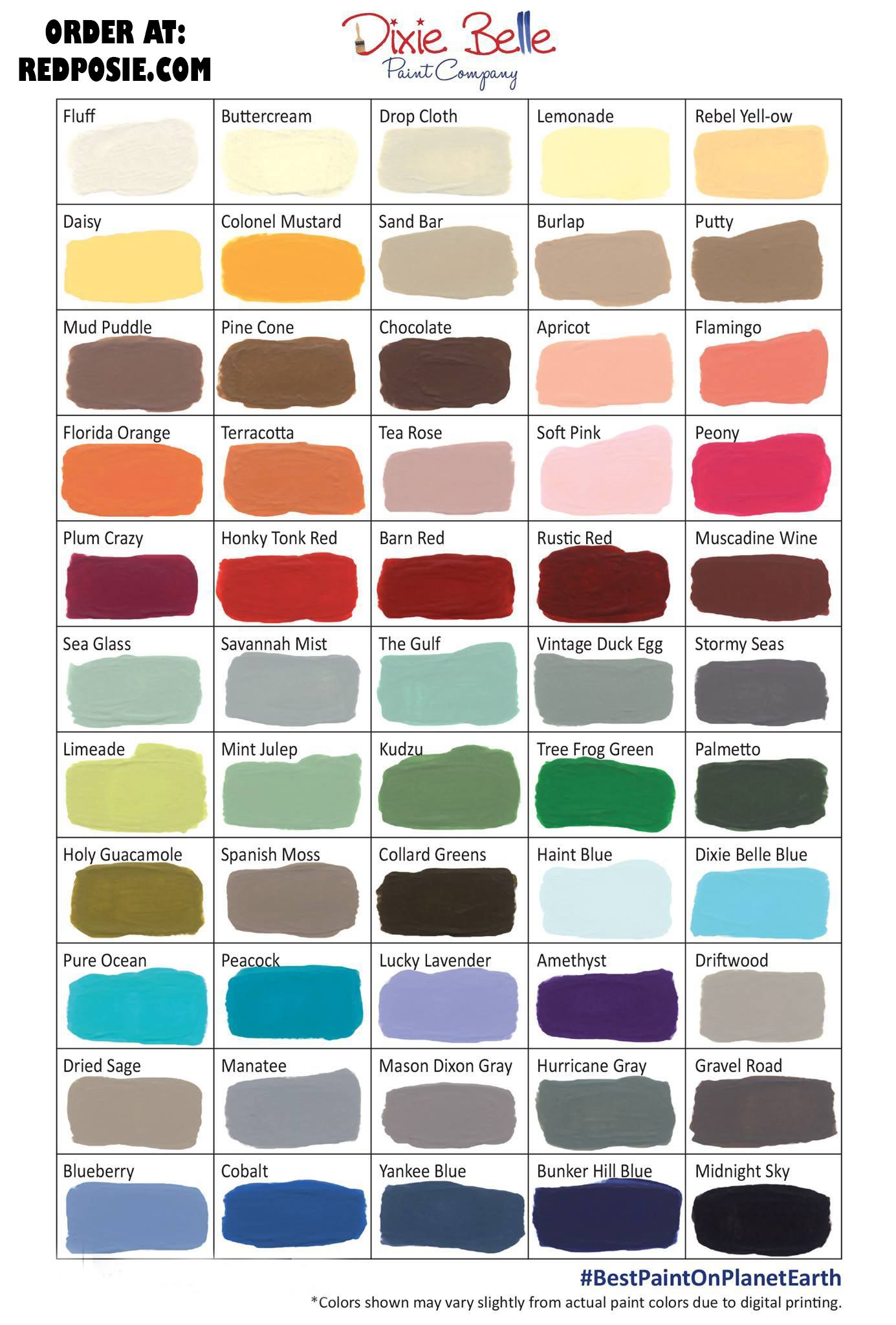 Dixie Belle Color Chart