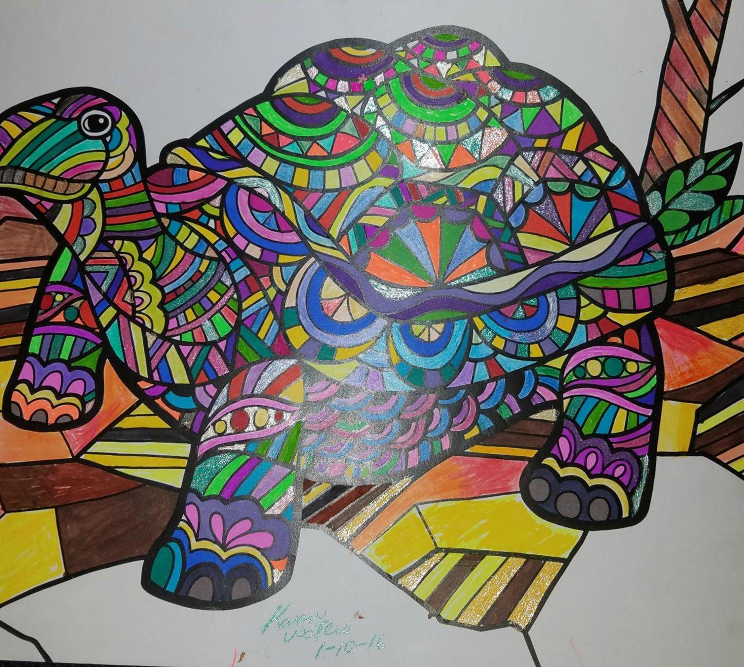 ColorIt Wild Animals Adult Coloring Book Colorist: Karen Waters #adultcoloring #coloringforadults #adultcoloringpages #animalcoloringpages
