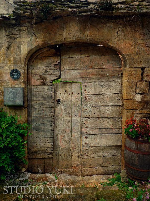 Old Door Photo, Rustic French Door, France, Travel