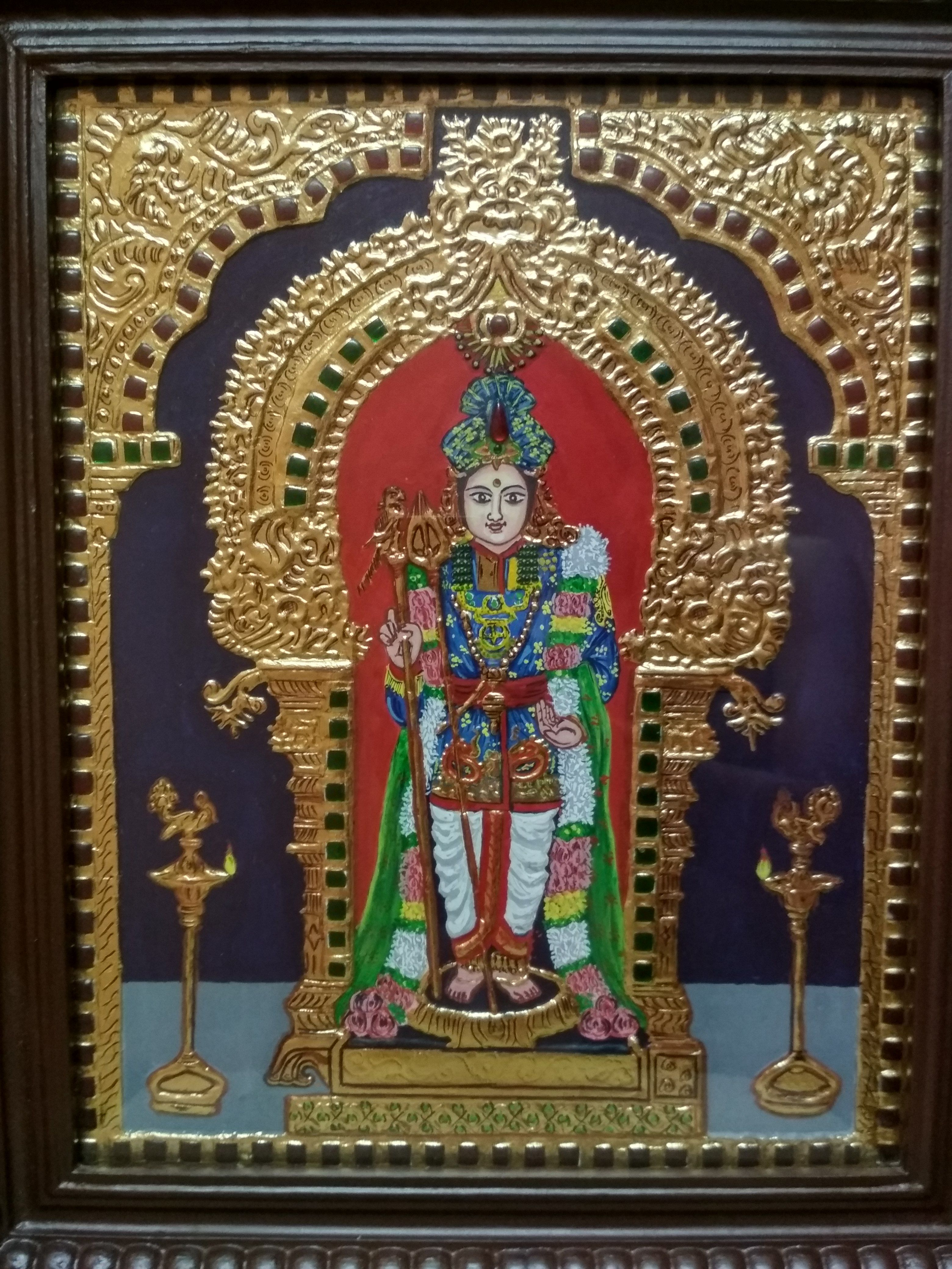 Authentic Tanjore Painting 1 22k Gold Foil 2 Teak Wood Frame 3 Size 12 Inch X 15 Inch 4 Price 8500 Inr Tanjore Painting Painting Art