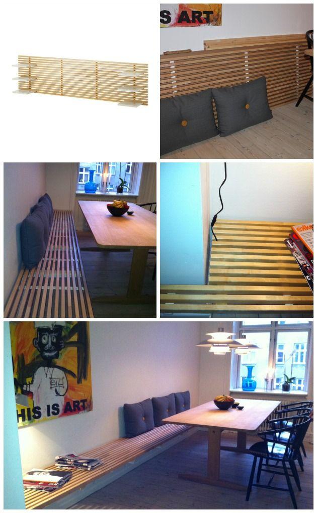 b nk af sengegavl fra ikea ikea hacks pinterest m bel diy m bel und haus. Black Bedroom Furniture Sets. Home Design Ideas
