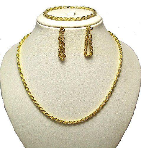 Women Girls Gold Tone Long Chain Necklace Earrings Bracelet Gift Jewellery Set Precio e informacion en la tienda: http://www.comprargangas.com/producto/women-girls-gold-tone-long-chain-necklace-earrings-bracelet-gift-jewellery-set/