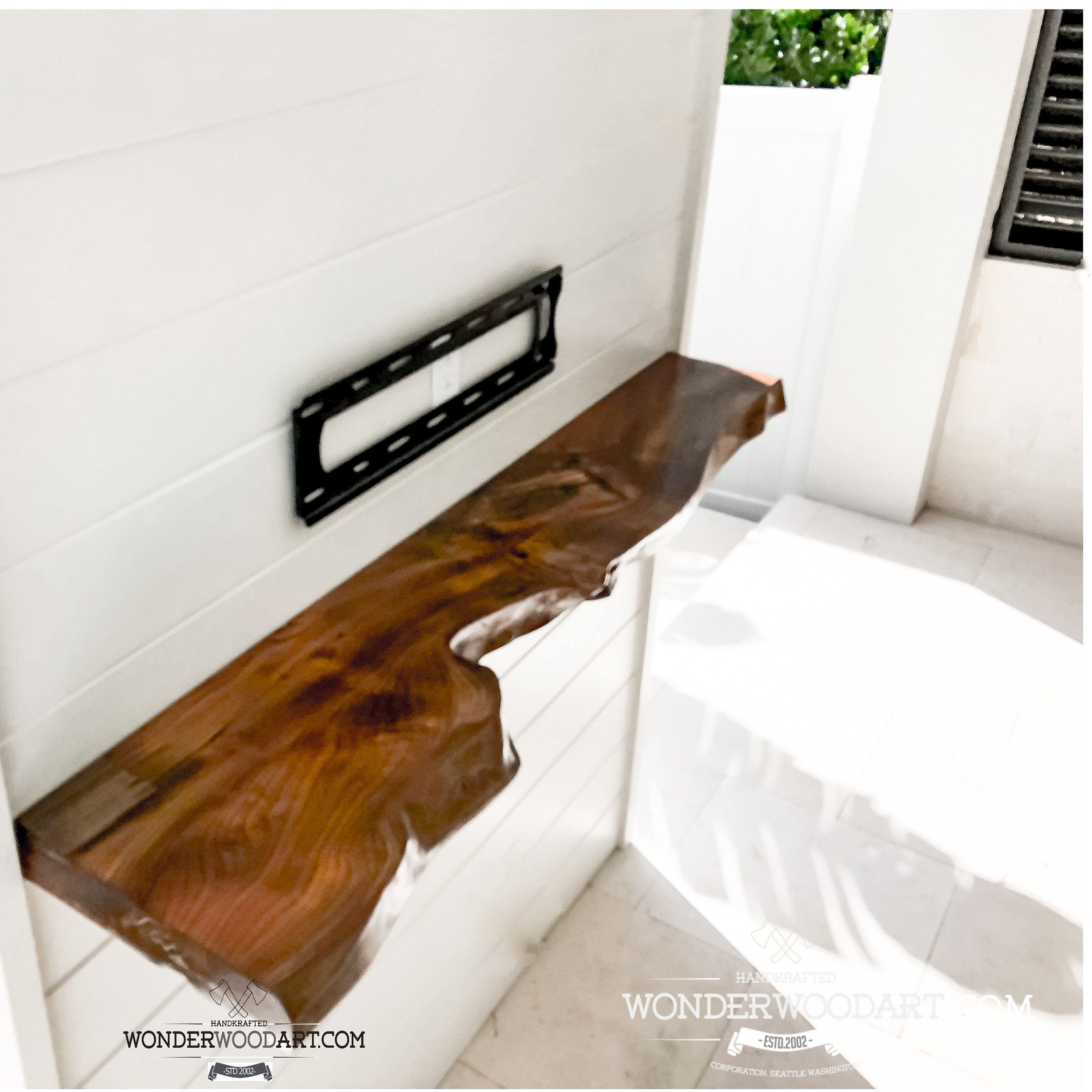 For Custom Order Only Live Edge Maple Dining Table With Resin Mantel Shelf Live Edge Shelves Wood Mantel Shelf