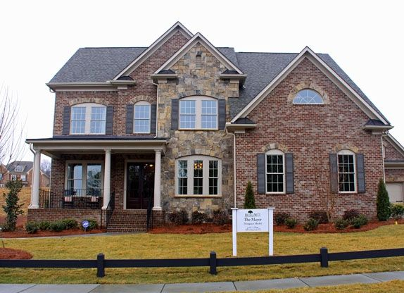 Suggestions for brick and stone exterior building a home for Mixing brick and stone exterior