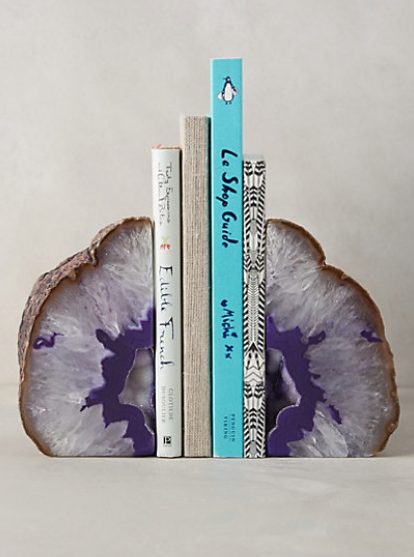 hand-cut agate bookends #anthrofave http://rstyle.me/n/ttzvipdpe