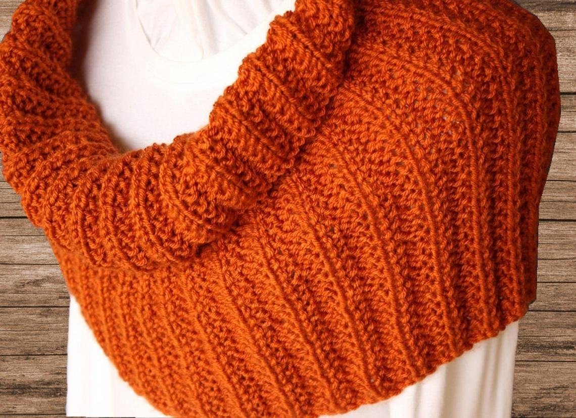 Pattern for Cowl Knit in Round Knit Cowl Patterns Rib ...