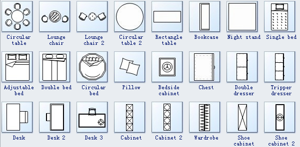Floor Plan Symbols 3 Floor Plan Symbols Bedroom Floor Plans Floor Plans
