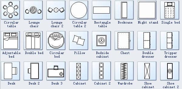 Floor Plan Symbols 3 Regina House Pinterest Bedrooms
