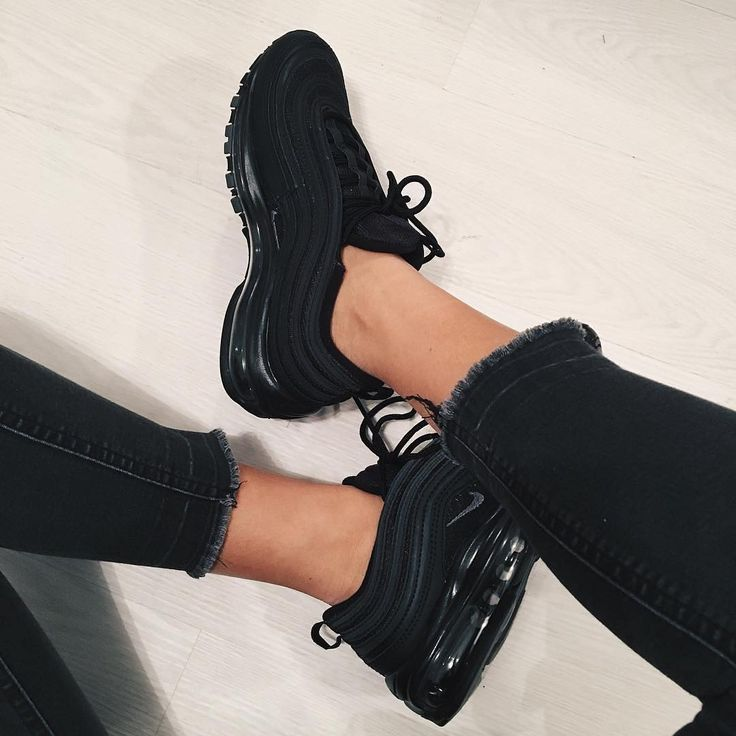 Nike Air Max 97 Black Great All Black Shoe For Women Photo Www Instagr Nike Sneaker Black Nike Shoes