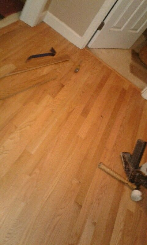 Replacing Carpet To Hardwood Flooring Landing Area All Done