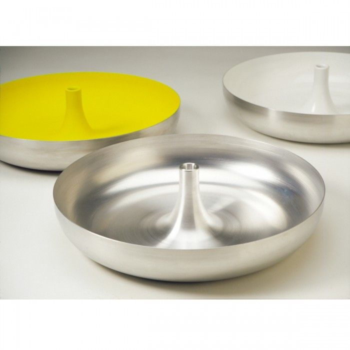 Elin Riismark. Candle bowl. spun metal.