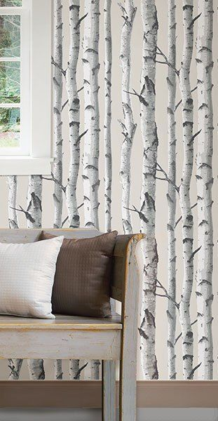 Birch Tree Peel And Stick Wallpaper | Home decor | Pinterest