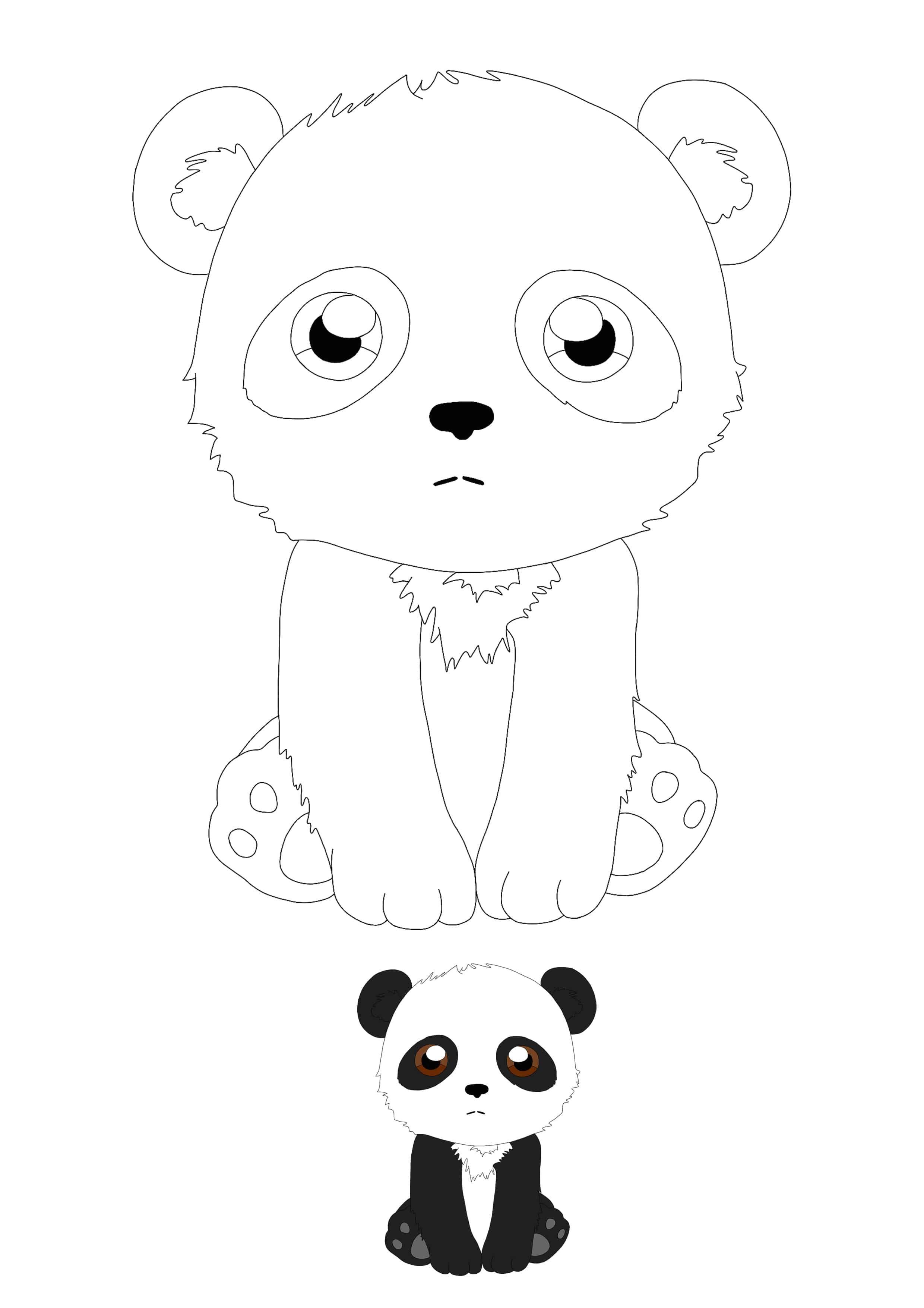 Kawaii Panda Coloring Page With Preview Panda Coloring Pages Kawaii Panda Coloring Pages