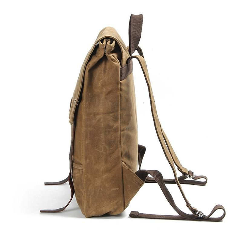 Waxed Canvas Leather Backpack Waterproof Rucksack Mens Canvas Backpack AF17  Model Number  AF17 Dimensions  14.2