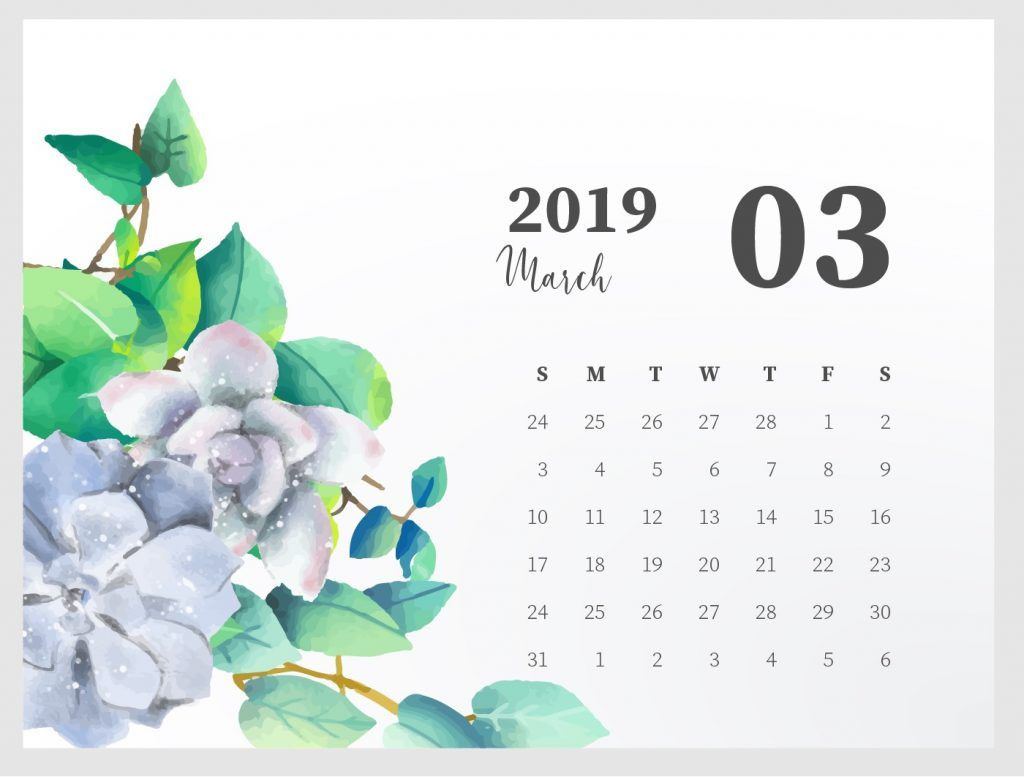 cute march 2019 calendar printable