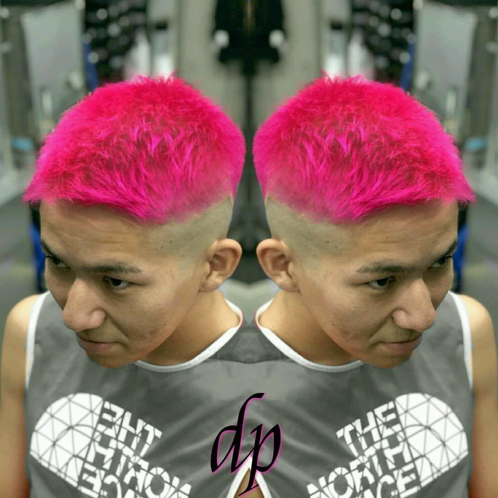 ピンクカラー ピンク Pink ブリーチカラー ヘアカラー メンズ