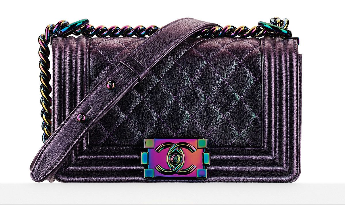 Currently Coveting  Kylie Jenner s Iridescent Chanel Boy Bag  b8f773034b7b4
