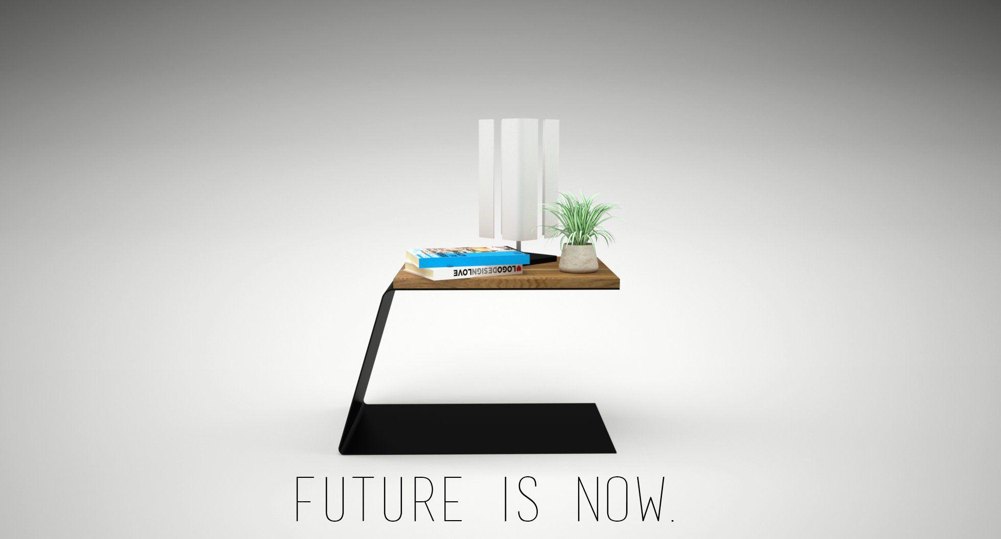 design nachttisch modern schwarz weiss holz metall schlafzimmer wohnzimmer innen metallmoebel. Black Bedroom Furniture Sets. Home Design Ideas