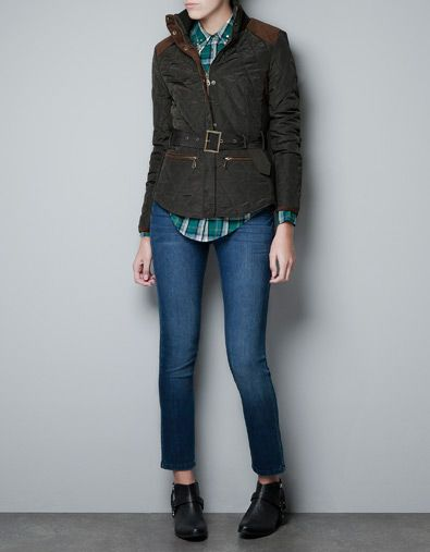 QUILTED JACKET WITH BELT - Coats - Woman - ZARA United States