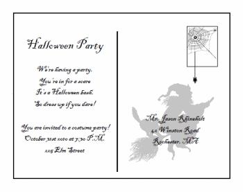 free printable halloween invitations ideas free printable postcard