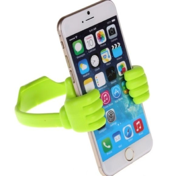 Silicone Phone holder  Green silicone flexible phone holder  Accessories Phone Cases