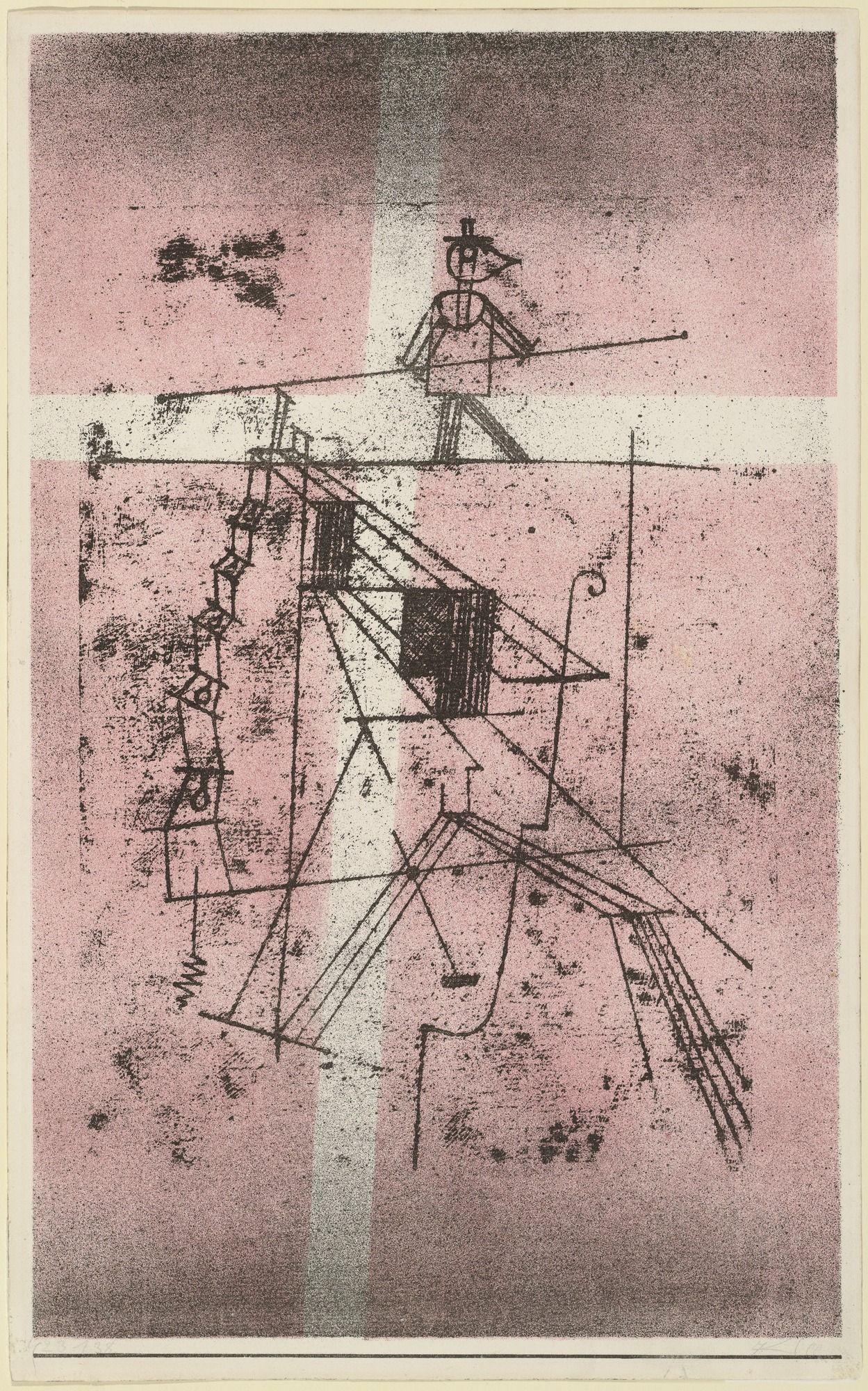 Framed Paul Klee Tightrope Walker Giclee Canvas Print Paintings Poster