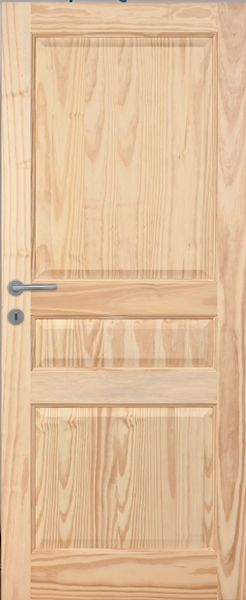 Porte int rieure sapin vernis naturel mat portes de for Porte interieur sapin