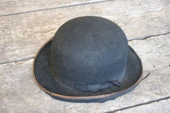 Original Vintage French Bowler Hat Bordeaux Ac Initials Etsy French Vintage Bowler Hat Bowler