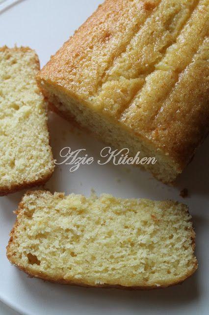 Azie Kitchen Kek Oren Lembab Yang Mudah
