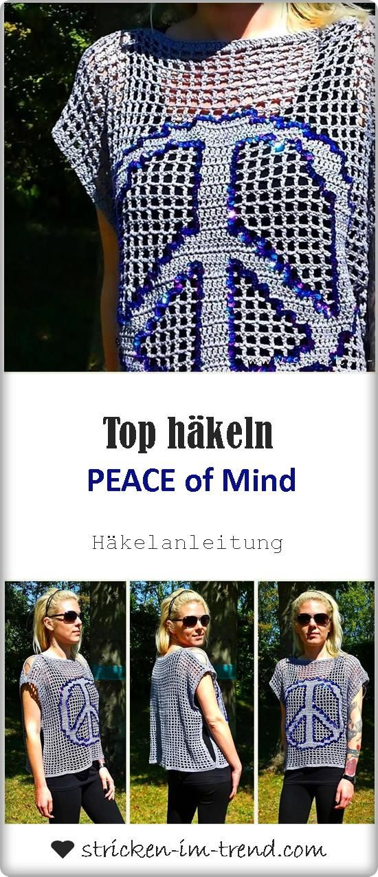 Häkelanleitung für Top - crochet pattern - Filethäkeln mal anders ...
