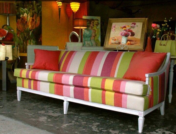 Stripes on sofas