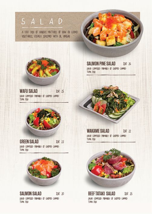 Daisho salad menu by japanese menu for Asian cuisine menu