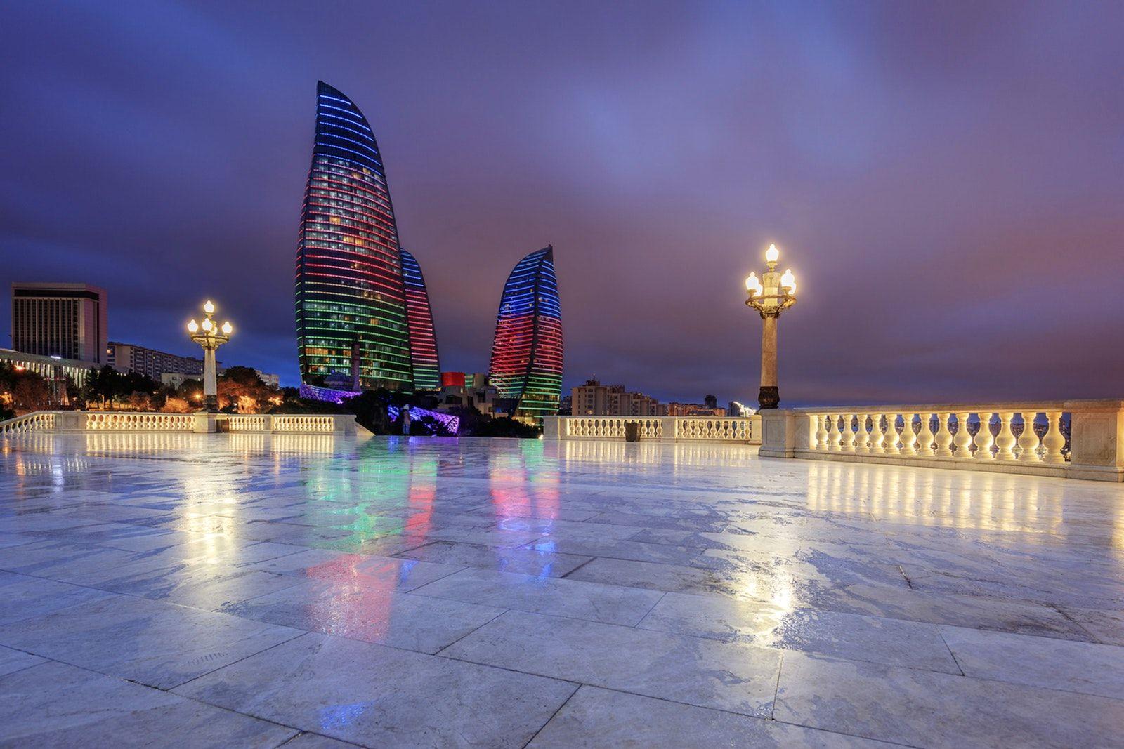Visit Dagustu Park Highland Park Baku Baku City Night City Azerbaijan Travel