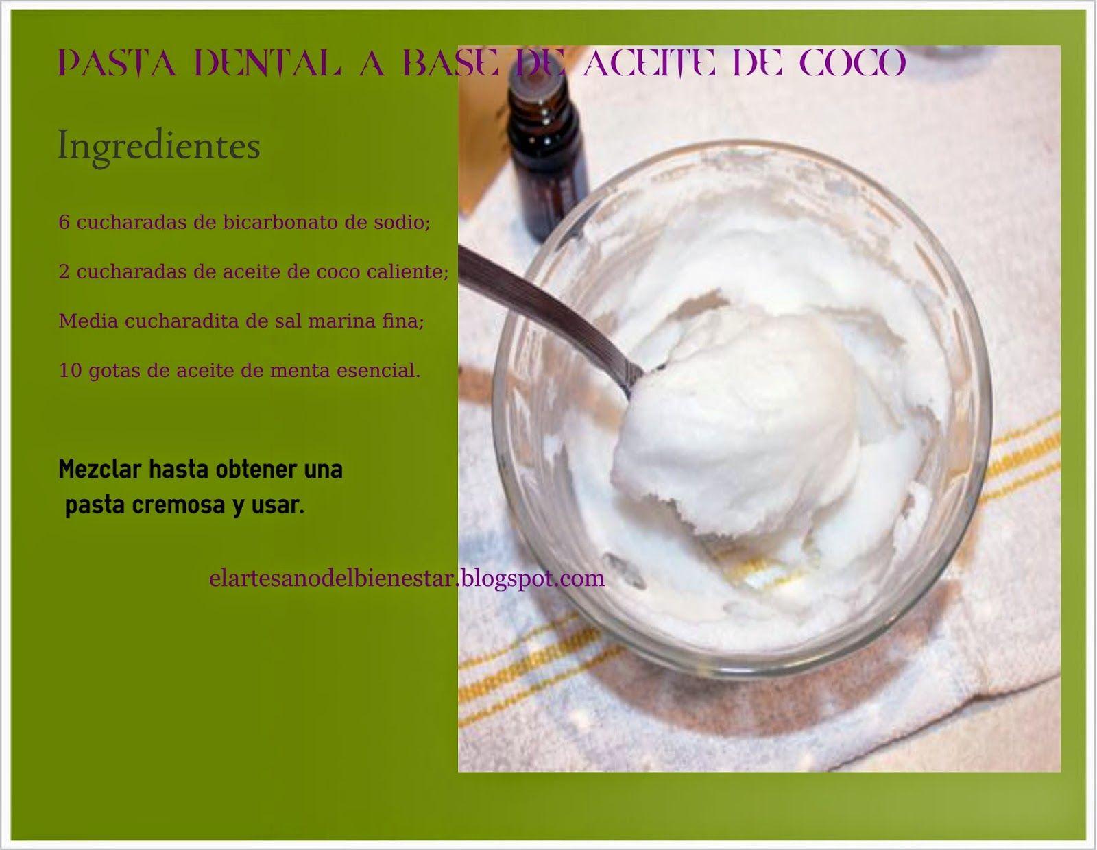 Pasta dental con bicarbonato de sodio y aceite de coco