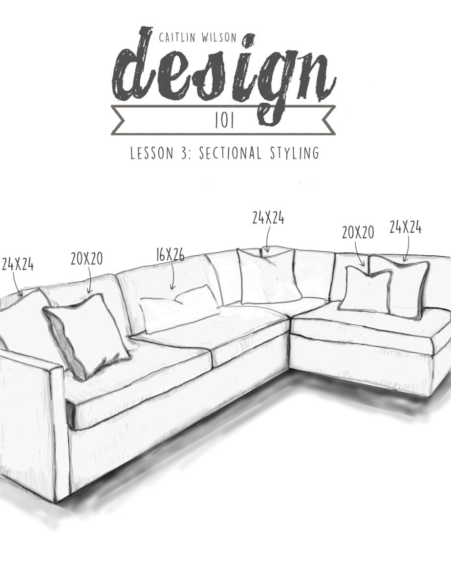 Sectional Styling Living Room Pillows, How To Repair Sofa Pillows On Sectional