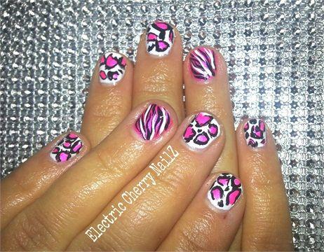 day 11 pink animal print nail art  animal nail art nail