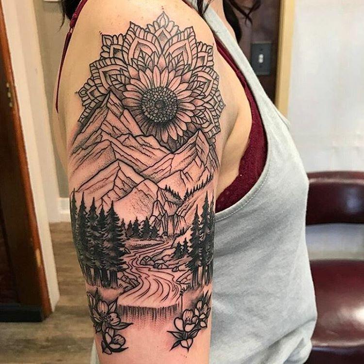 Photo of P R I M A L D É C O R sur Instagram: « Belle mandala tatouage paysage par @ danieldozier777