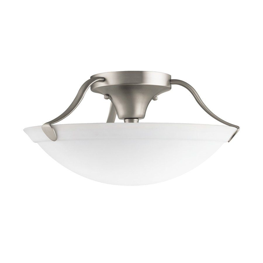 Kichler lighting 15 in w brushed nickel etched glass semi flush kichler lighting 15 in w brushed nickel etched glass semi flush mount light aloadofball Choice Image