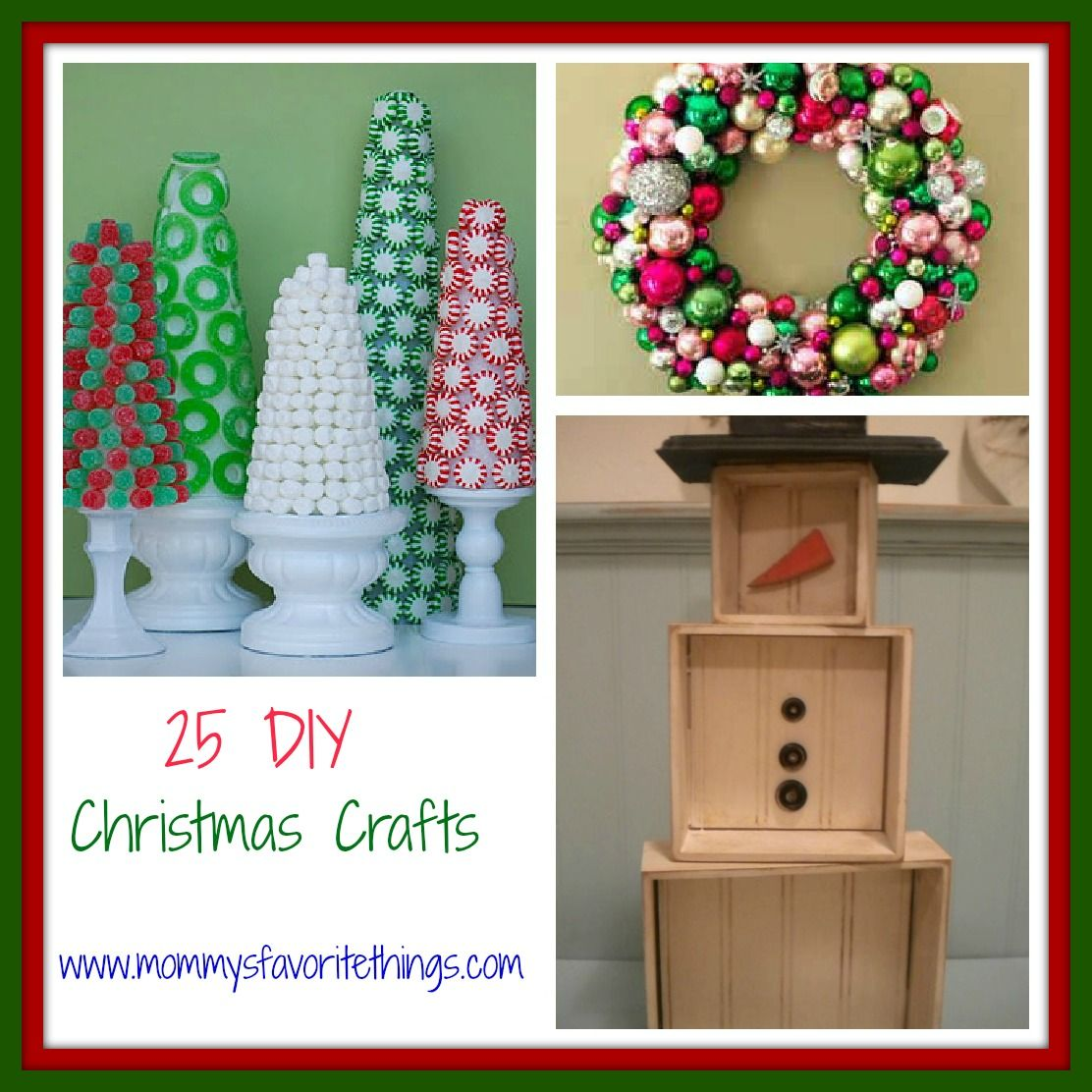 Rustic Mantel Décor That Will Adorn Your Bored To Death: Mommy's Favorite Things: 25 DIY Christmas Crafts
